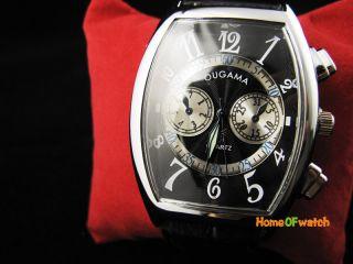 New Black PU Belt Arabic Numerals Analog Mens Wrist Quartz Watch
