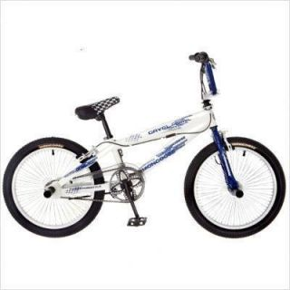 Mongoose Freestyle Bike R2304 Boys Gavel BMX 20 Bicycle White Navy