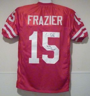 Tommie Frazier Autographed Signed Nebraska Cornhuskers Red Size XL