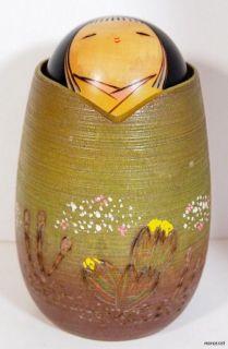 LOVELY VINTAGE JAPANESE SOSAKU KOKESHI DOLL by FUJIKAWA SHOEI