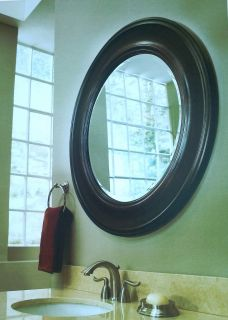 Framed Round Circle Wall Mirror Bath Vanity Home Decor