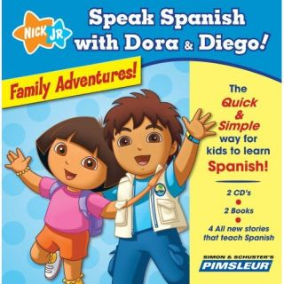 Audio CD Speak Spanish Dora Diego Adventures Pimsl