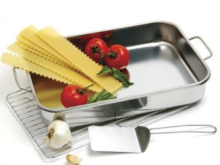 roast pan rack stainless steel w free spatula