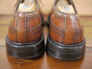 Vtg French Shriner Wingtip Brogue Leather Oxfords 10 5