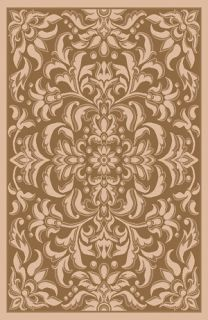 Bold Beige Floral 8x11 Area Rug Indoor Outdoor Carpet Actual Size 710