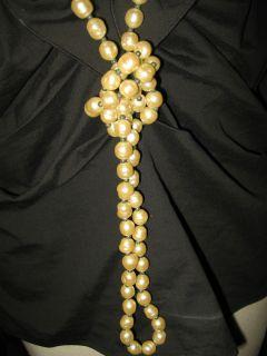 Chanel Haute Couture France Sautoir Gripoix 62 Baroque Pearl Necklace