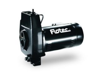 Flotec Cast Iron Convertible Jet Pump 1 2 HP FP4212J Heavy Duty Motor