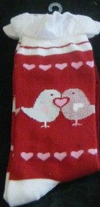 SOCKS VALENTINE LOVE HUGS LADIES SZ 9   11 DIFF STYLES (A05 1 0