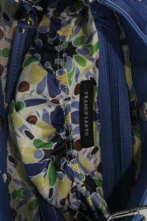 Franco Sarto Blue Organizational Satchel Handbag Medium BHFO