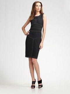 DVF Diane Von Furstenberg Aegis Dress 8 Black $389