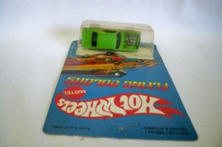 Hot Wheels Mattel Flying Colors Heavy Chevey Green 7619 1969 Red Line