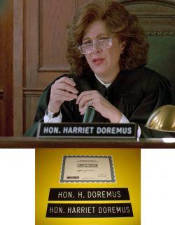 LAW & ORDER Barbara Spiegel Judge Harriet Doremus SCREEN USED