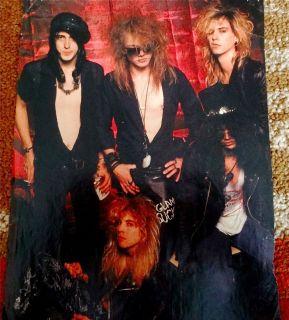 Guns N Roses PinUP mid 1980s Axl Rose, Slash, Steven Adler