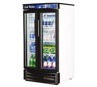 Radius Front 2 Door Glass Door Merchandiser Refrigerator Cooler