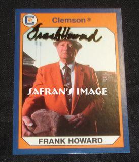 Clemson Tigers Footbal Legend Frank Howard Signed Card Tiger