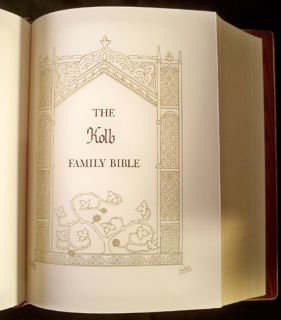 1975 Franklin Mint Silver Hard Cover New American Catholic Bible