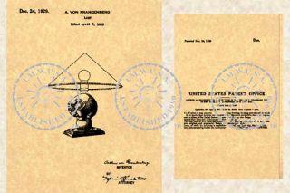 1929 FRANKART Elephant Table Lamp Patent Art Deco 662