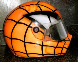 NHRA Larry McBride Helmet Nitro Drag Bike Top Fuel Spider