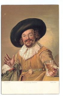 Antique Stengel Art Post Card Der Lustige Zecher by Frans Hals