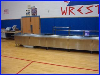 Food Service Line Cafeteria Stainless Steel Various Pieces Restaurant