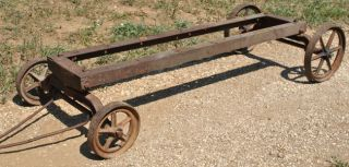 Original RARE Galloway Hit Miss Gas Engine Cast Iron Hand Truck