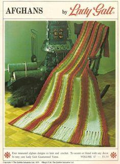 Knitting Crochet Patterns Afghans Retro Afghans by Lady Galt