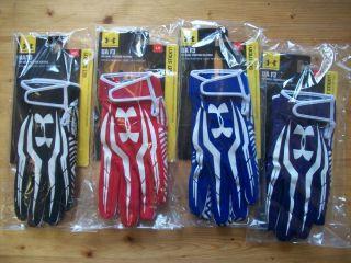 Under Armour UA F3 Football Gloves Receiver Black White NFL Free