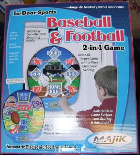 Majik in Door Sports Football Baseball 2 in 1 Game