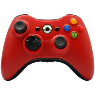 New Red Wireless Game Controller Glossy for Microsoft Xbox 360 Xbox360