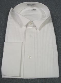 New Mens Fumagalli White Cotton Wing Tuxedo Shirt