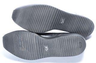 Fratelli Rossetti Black 9 39 Leather Croc Embossed Platform Flat Shoe