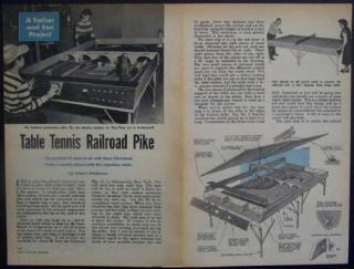 Model Railroad Ping Pong Table How to Build Plans