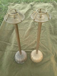 Vtg Mid Century Frederick Cooper Brass Altar Candle Holders