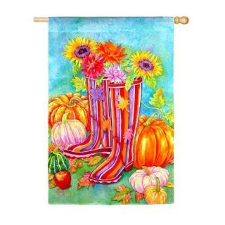 Garden Boots Fall Autumn Decorative Large House Flag