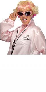 grease frenchie blonde pink costume wig