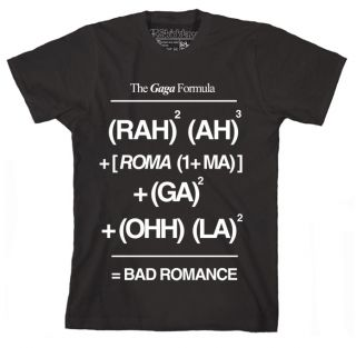 Lady Gaga T Shirts Bad Romance Formula 11Colours Female