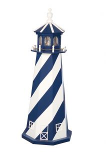 Amish Lighthouse Wooden Lawn Garden Yard Decor 4 New