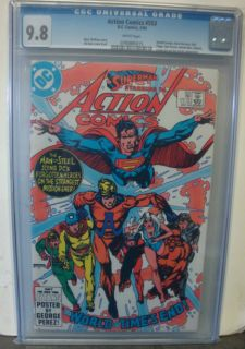 Action Comics 553 CGC 9 8 Superman Forgotten Heroes