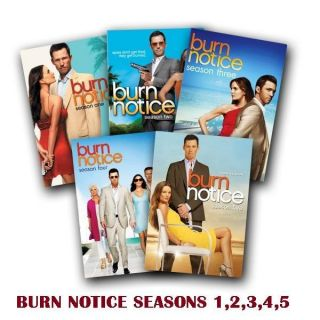 Burn Notice DVD SET SEASONS 1 5 COMPLETE. NEW FACTORY SEALED. FREE