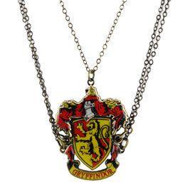 Harry Potter Gryffindor Crest Friendship Necklace 3 Piece Pendant Gift