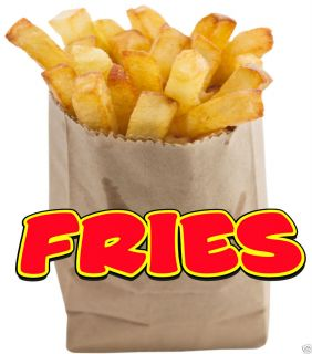 Fries Bag French Fry Fast Food Restaurant Concession Food Truck Van