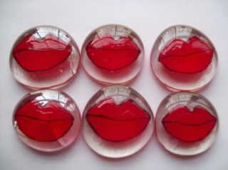 HP Large Glass Gems Party Favors Red Lips Lip Kisses