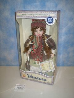 New Vanessa Ricardi Collection 2003 Limited Edition Porcelain Doll
