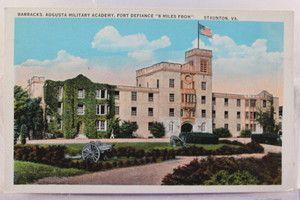 Virginia VA Staunton Fort Defiance Augusta Military Academy Postcard
