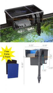 Aquarium Power Filter Hang on Freshwater Tropical Fish Discus Media