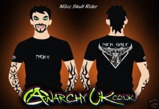 Nick Gale Custom Cycles Skull Rider T Shirts