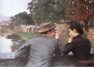 Emile Friant The Lovers Art Oil Painting repro