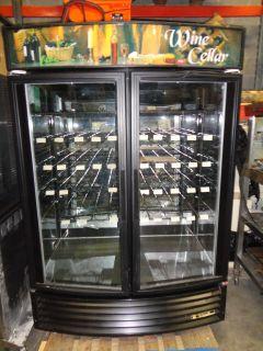 49W RF RADIUS FRONT GLASS DOOR WINE COOLER MERCHANDISING REFRIGERATOR