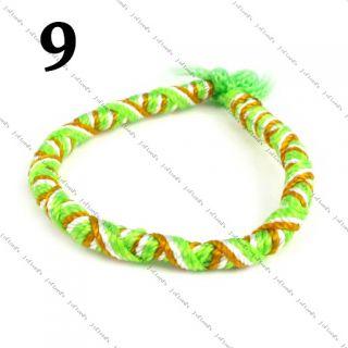 Stackable Twisted Twist Peruvian Friendship Bracelets Party Bag