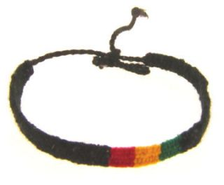 12x Rasta Bracelets Woven Friendship Quatamalan New